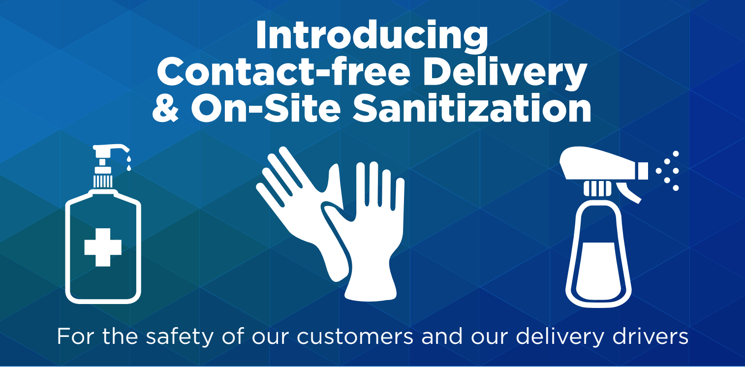 Contact-Free Delivery & On-Site Sanitization